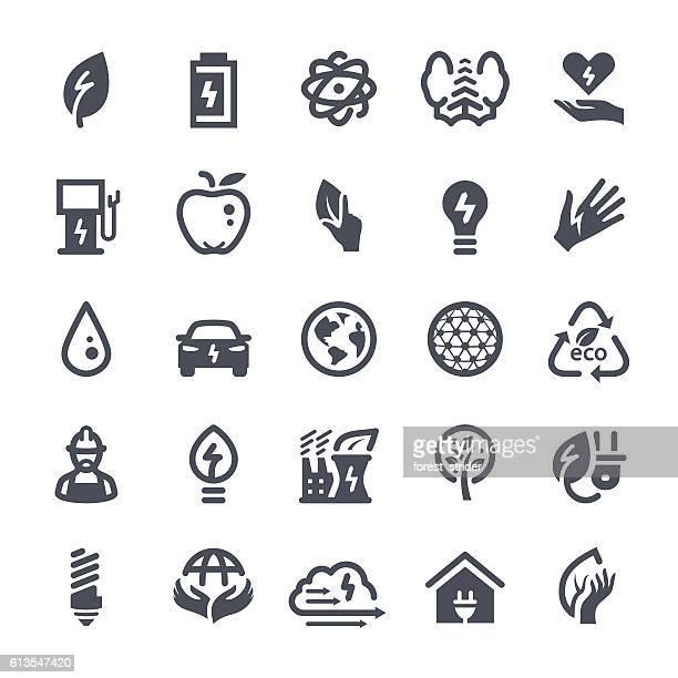 energy icons - hybrid car stock illustrations, clip art, cartoons, & icons