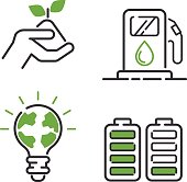 Energy icons vector set.