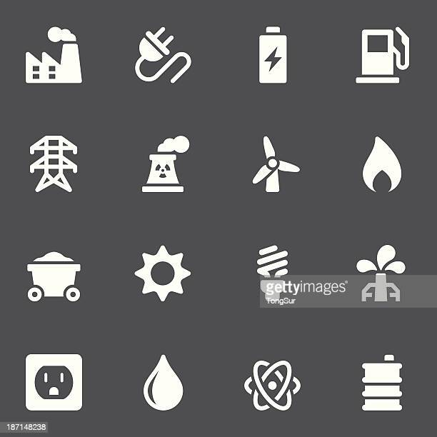energy icons - white series - power supply box stock illustrations, clip art, cartoons, & icons