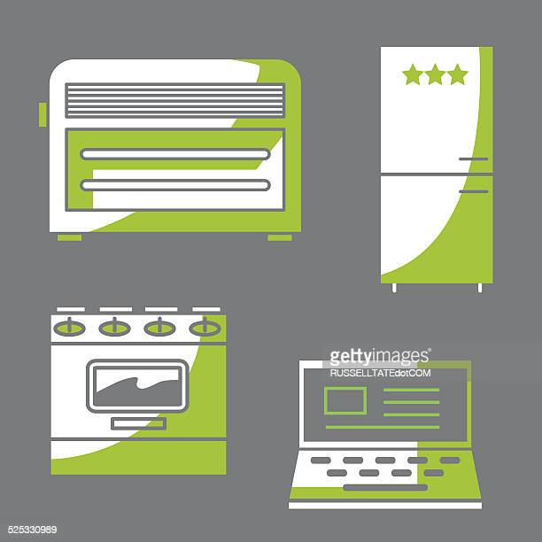 energy icons#1 - electric heater stock illustrations, clip art, cartoons, & icons