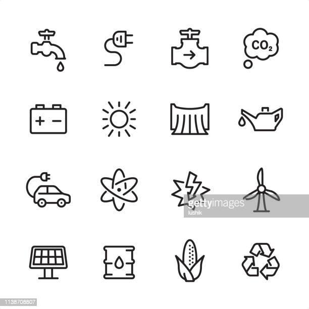 Energy - outline icon set