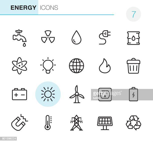 energy - pixel perfect icons - electric plug stock illustrations
