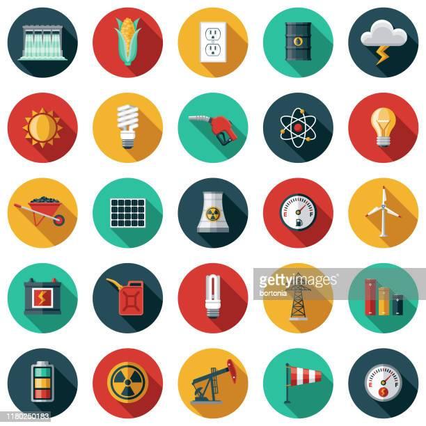 エネルギーと電源アイコンセット - 鉱業点のイラスト素材/クリップアート素材/マンガ素材/アイコン素材