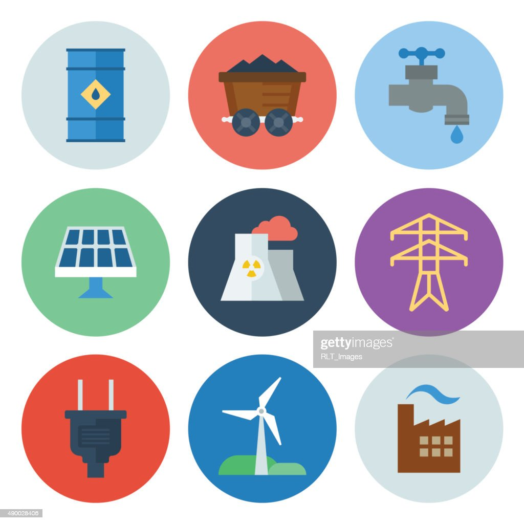 Energy & Power Icons — Circle Series