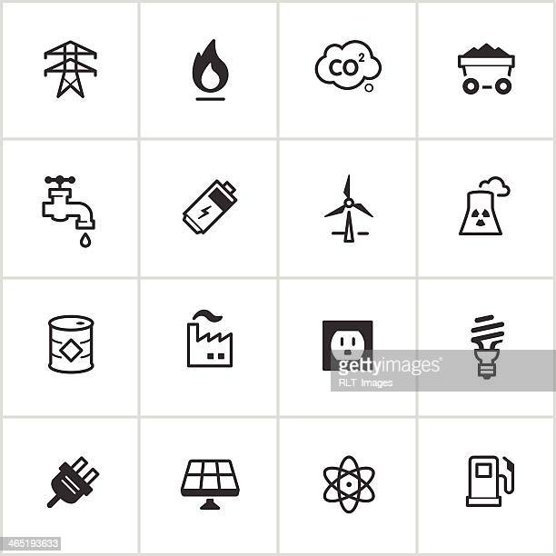 Energy & Power Icons — Inky Series