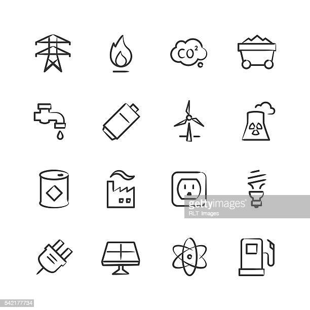 Energy & Power Icons — Sketchy Series