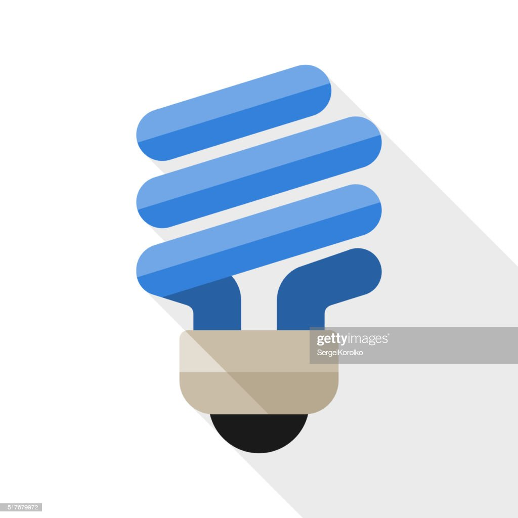 Energy saving light bulb flat icon
