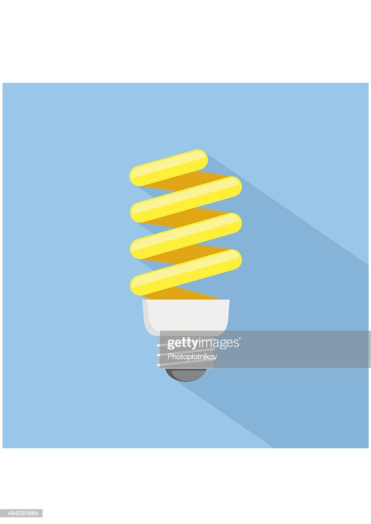 Energy saving Light Bulb Icon. Flat style