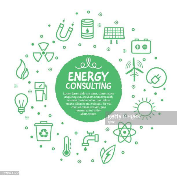 energy services poster - condition stock illustrations