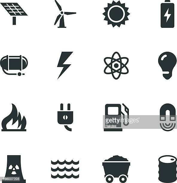 Energy Silhouette Icons
