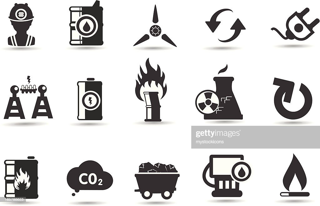Energy Symbols And Icons Vector Art Getty Images