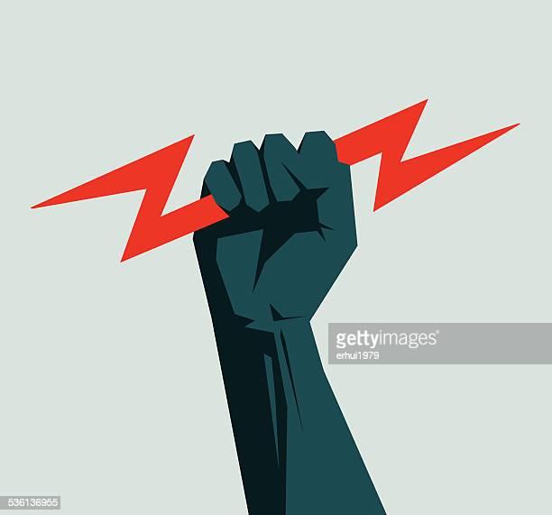 ilustraciones, imágenes clip art, dibujos animados e iconos de stock de de energía - electricista