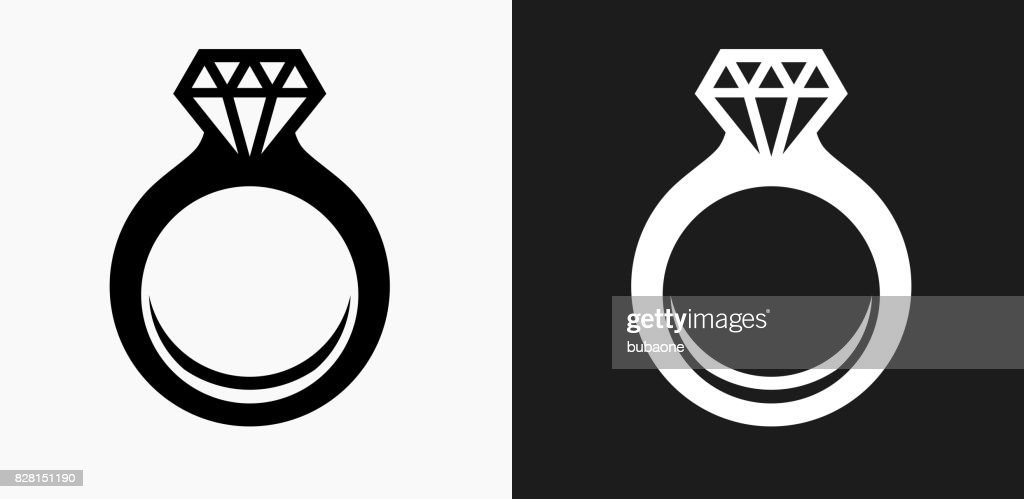 Engagement Ring Icon On Black And White Vector Backgrounds High Res Vector Graphic Getty Images