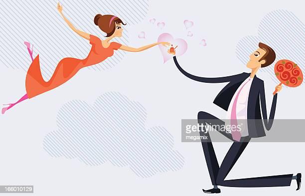 engagement. - girlfriend stock illustrations, clip art, cartoons, & icons