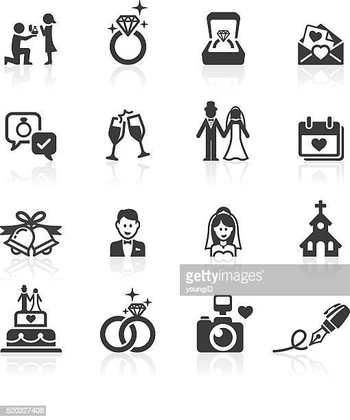 Engagement & Wedding Icons.