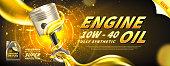 Engine oil advertisement background