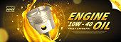 Engine oil advertisement web banner