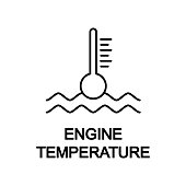 engine temperature icon. Element of car repair for mobile concept and web apps. Detailed  icon can be used for web and mobile. Premium icon