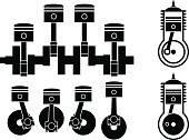 Engine vector icons