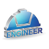Engineer 3d Glossy Vector Icon Design