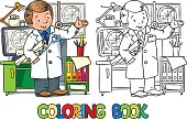 Engineer coloring book. Profession ABC series