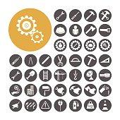 Engineer Icon set vector illustration.