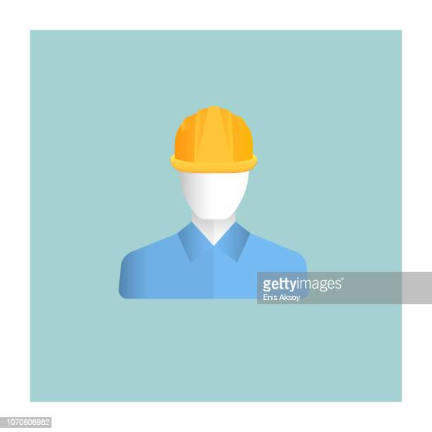 engineer icon - protective workwear stock illustrations, clip art, cartoons, & icons
