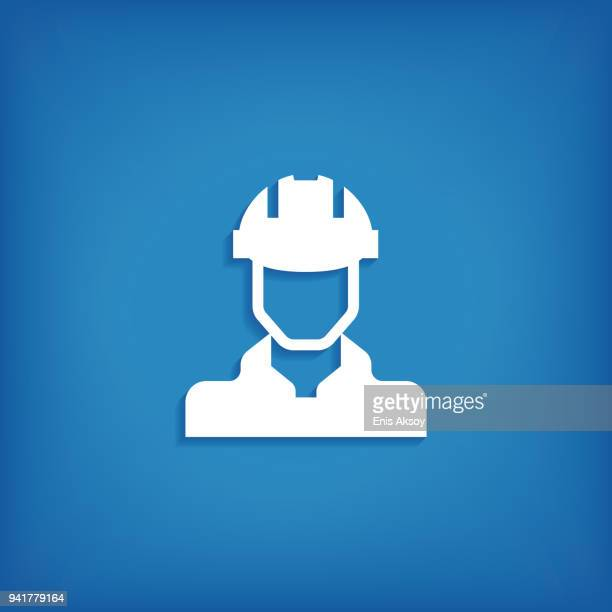 engineer icon - occupational safety and health stock illustrations, clip art, cartoons, & icons