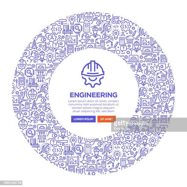 ilustraciones, imágenes clip art, dibujos animados e iconos de stock de bandera de ingeniería - ingeniero civil