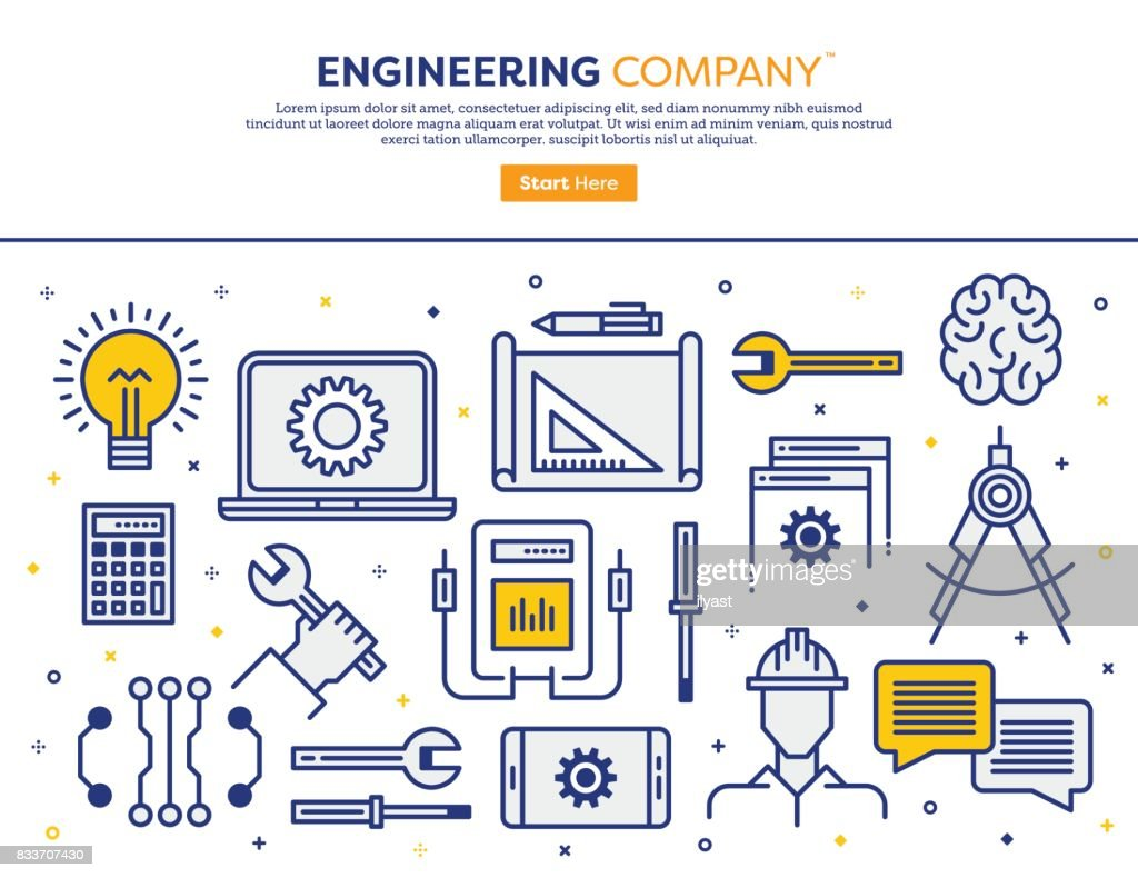 Engineering Company Concept : stock illustration