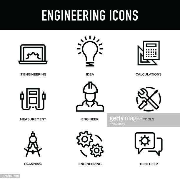 Engineering Icon Set - Thick Line Series
