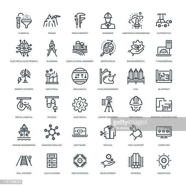 エンジニアリングアイコンセット - 鉱業点のイラスト素材/クリップアート素材/マンガ素材/アイコン素材