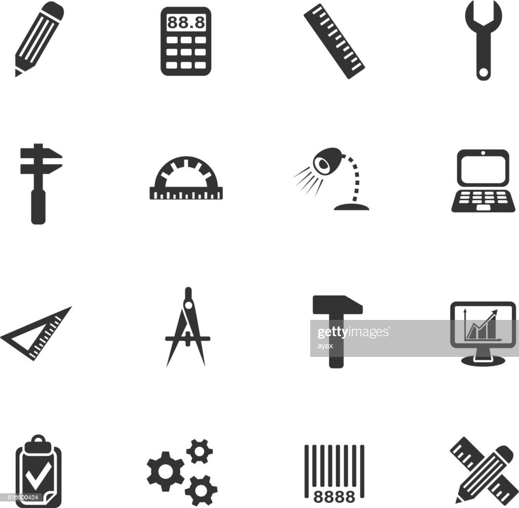 engineering icon set