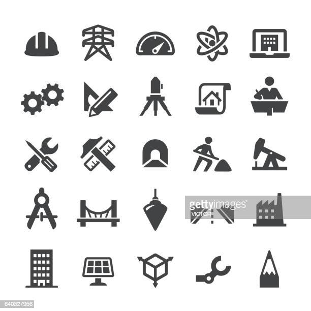 engineering icons - smart series - engineer stock illustrations