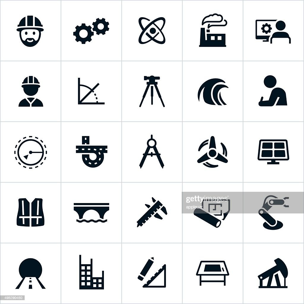 Engineering Icons : stock illustration