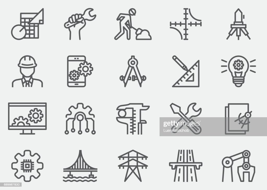 Engineering Line Icons : Vector Art