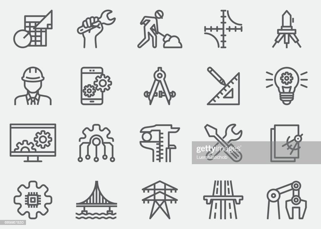 Engineering Line Icons