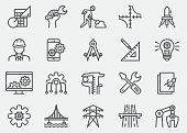 Engineering Line Icons