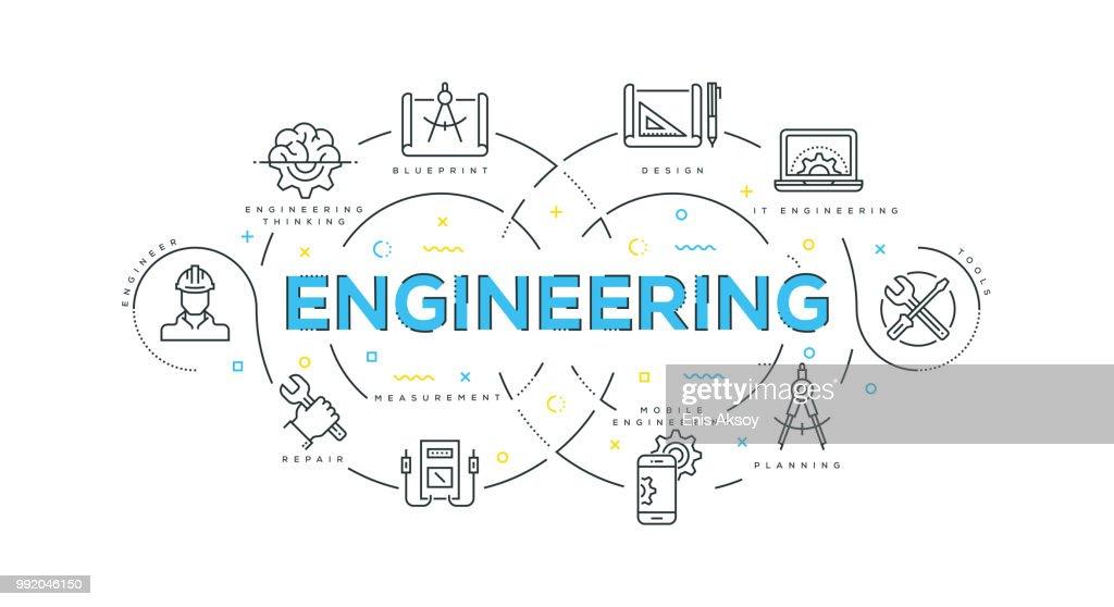 Engineering Modern Flat Design : stock illustration
