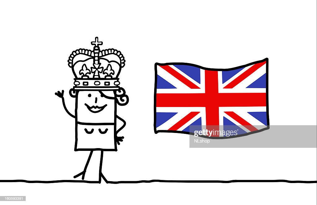 England flag & Queen