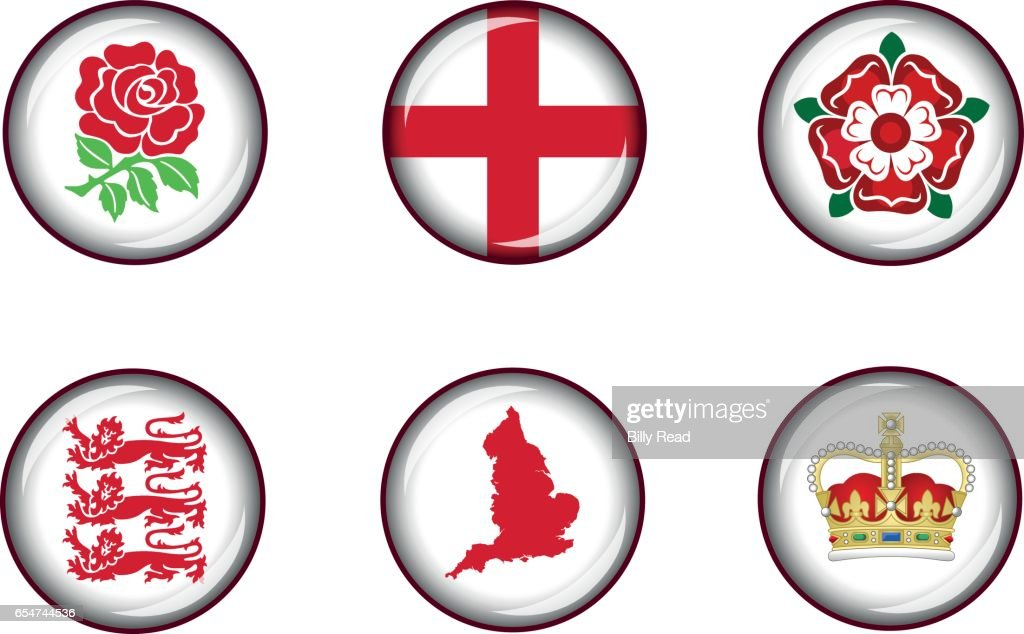 England Icons Set