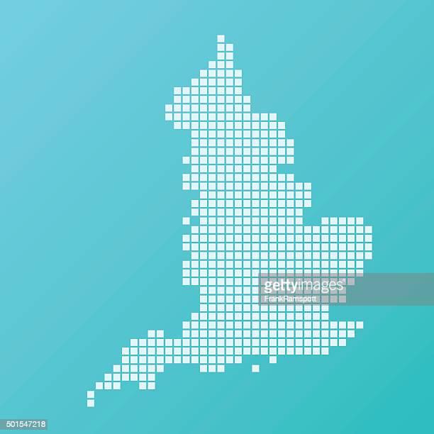 england map basic square muster-türkis - frankramspott stock-grafiken, -clipart, -cartoons und -symbole