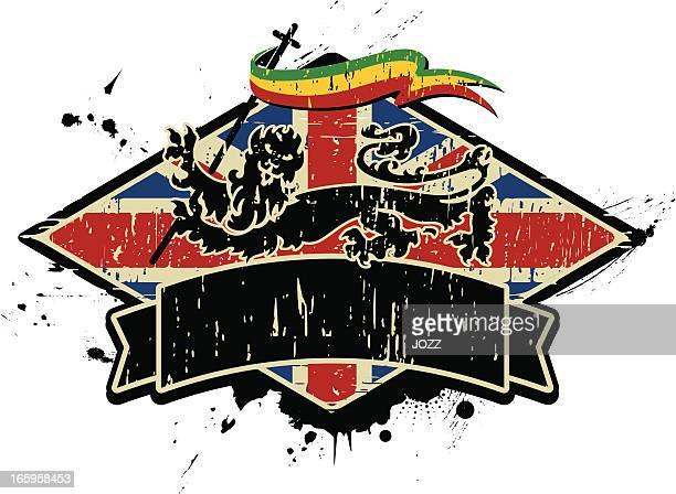 ilustrações de stock, clip art, desenhos animados e ícones de inglaterra emblema rasta - reggae