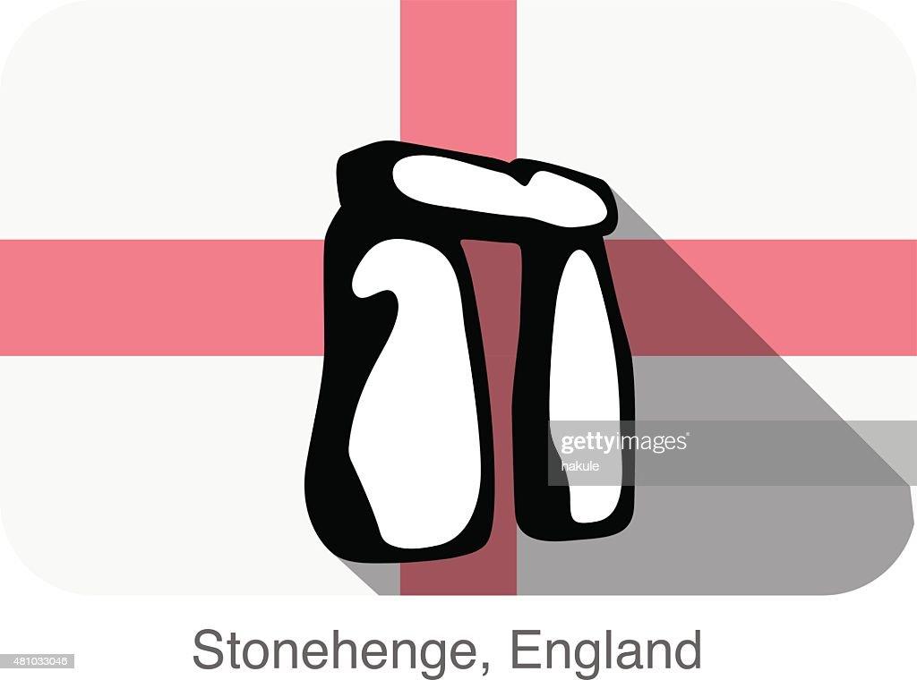 England Stonehenge, landmark flat icon design : stock illustration