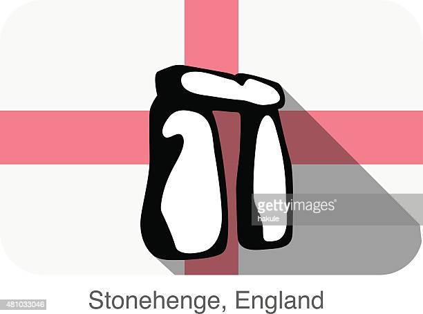 ilustrações de stock, clip art, desenhos animados e ícones de inglaterra stonehenge, marco plana ícone design de - megalith
