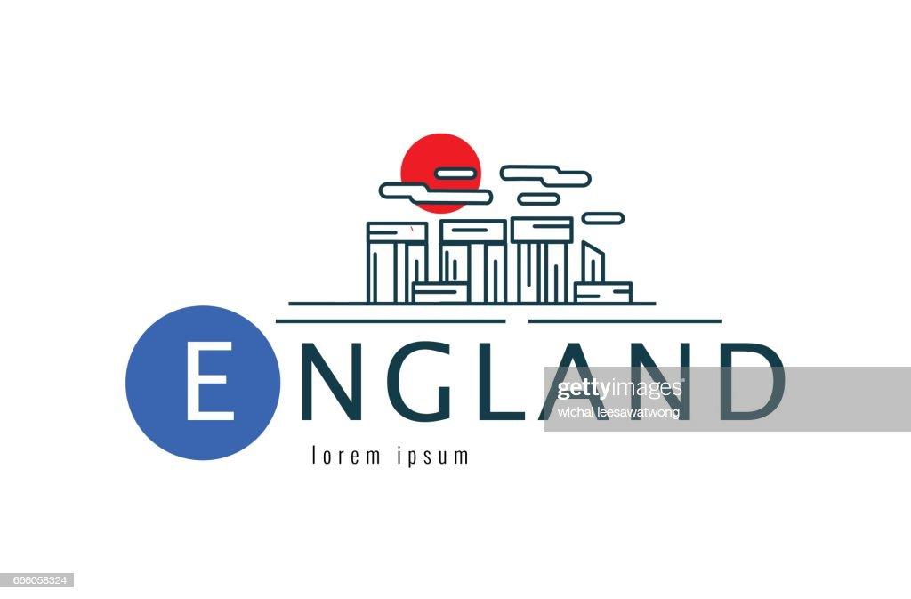 England symbol. Stonehenge of Wiltshire of the Great Britain scene.
