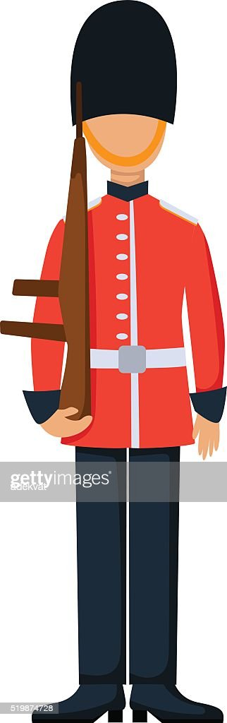 England troop armed forces man with weapon illustration