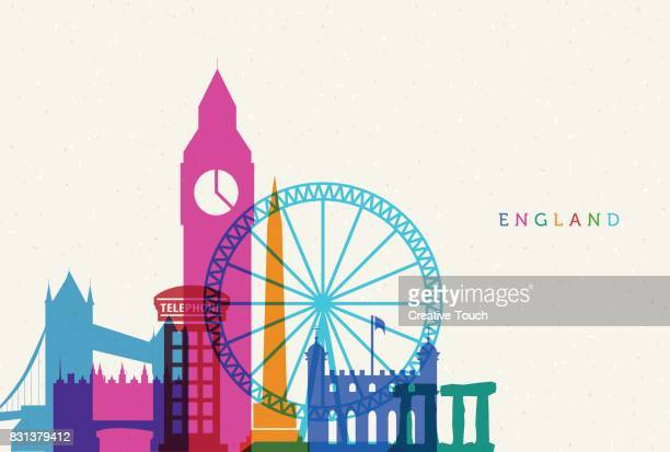 england - famous place stock illustrations