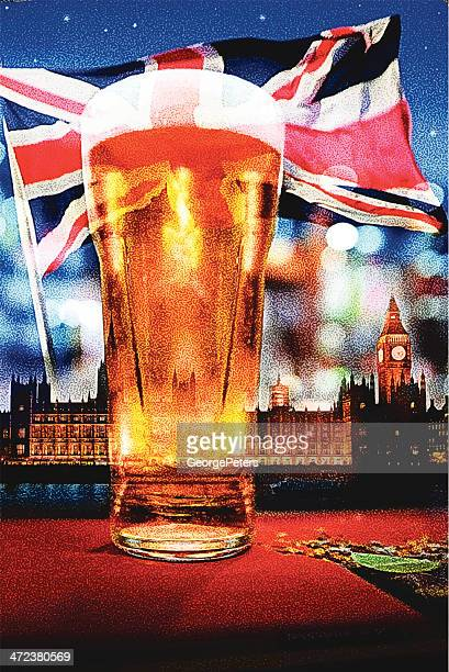 english beer - english culture stock illustrations