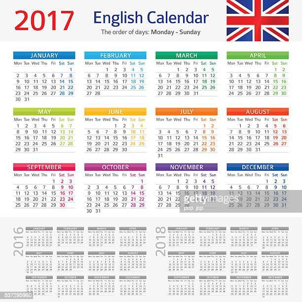 Englisch Kalender 2017
